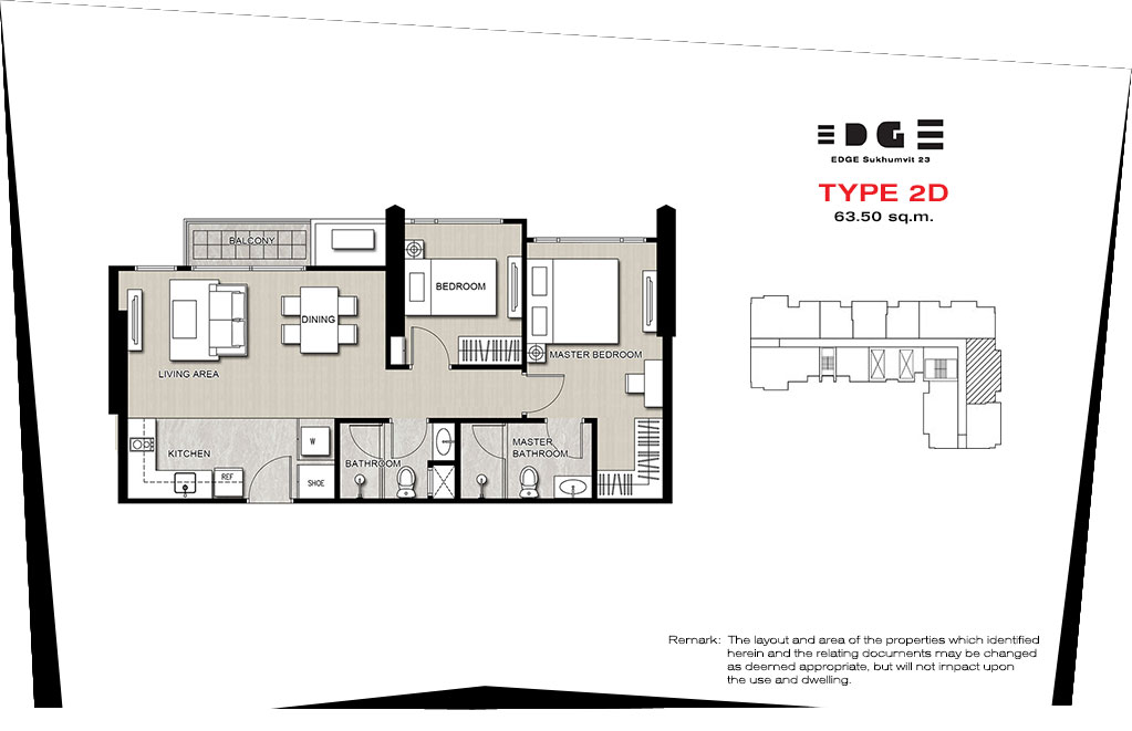 Edge-Sukhmvit-2br-ph-layout